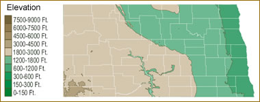 Map Of North Dakota Lakes Streams And Rivers - North dakota rivers map