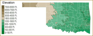 Oklahoma Lake Map River Map And Water Resources