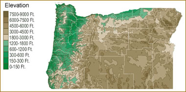 Map Of Oregon Lakes Streams And Rivers