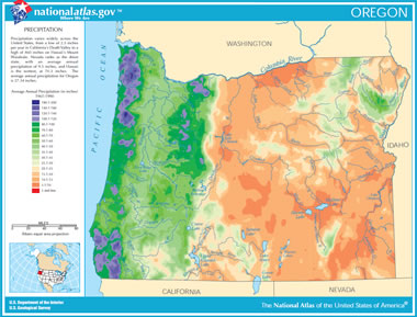 Map Of Oregon Lakes Streams And Rivers - Oregon rivers map