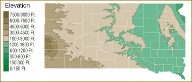 Map of South Dakota Lakes Streams and Rivers