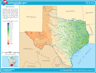 Map Of Texas Lakes Streams And Rivers - Physical map of texas rivers