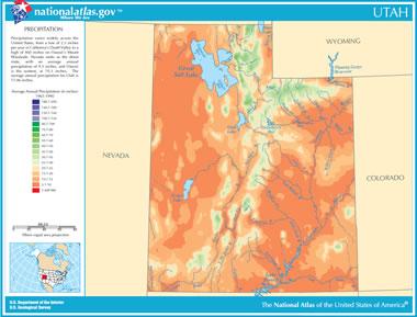 Map Of Utah Lakes Streams And Rivers - Show me a map of utah