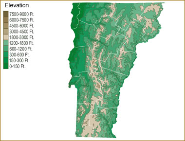 Map Of Vermont Lakes Streams And Rivers - Lake-champlain-on-us-map