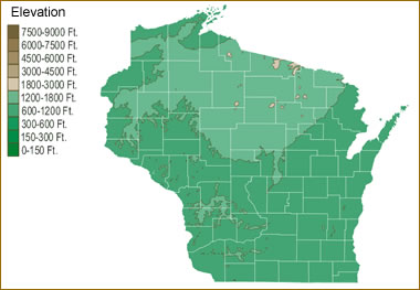 Map Of Wisconsin Lakes Streams And Rivers - Map of wisconsin lakes and rivers