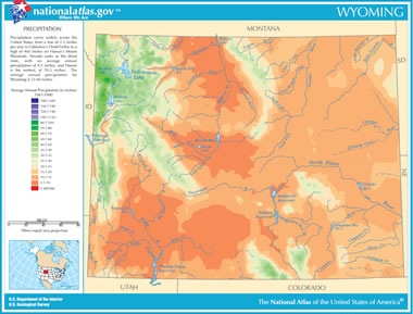 Powder River Wyoming Map.Map Of Wyoming Lakes Streams And Rivers