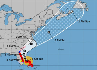 Hurricane Track Map