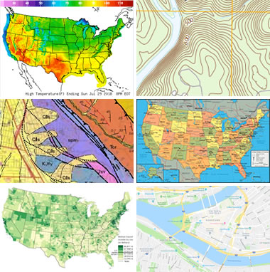 Types Of Maps Political Physical Google Weather And More