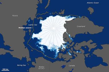 Arctic Ice Extent Map