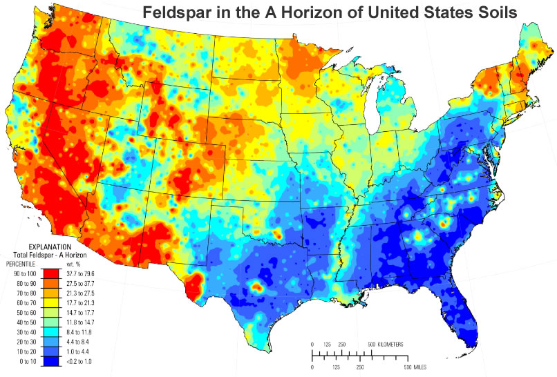 Calcium Silicate United States : Feldspar minerals make up over of earth s crust