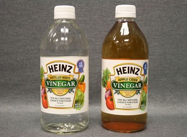 vinegar can be used for the acid test