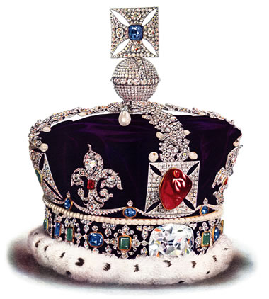 The Black Prince's Ruby in the Imperial State Crown