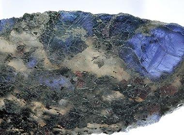 Cordierite crystals in matrix