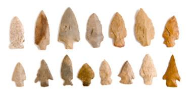 quartz flint arrowheads