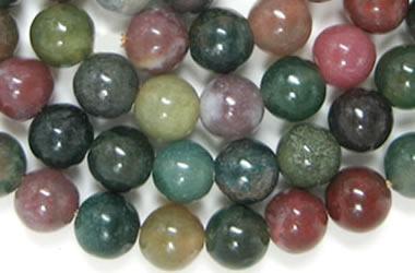 quartz beads jasper