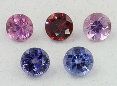 faceted spinel
