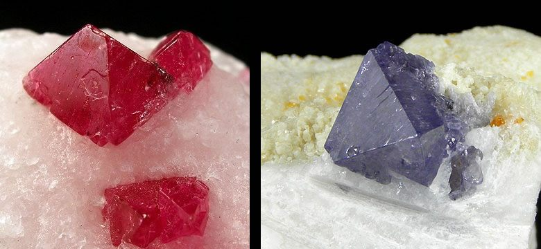 red and blue spinel