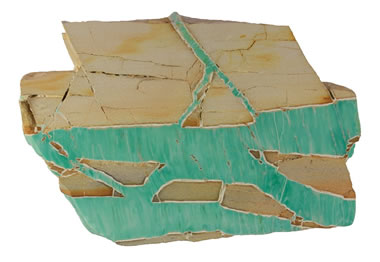 Variscite fracture fillings