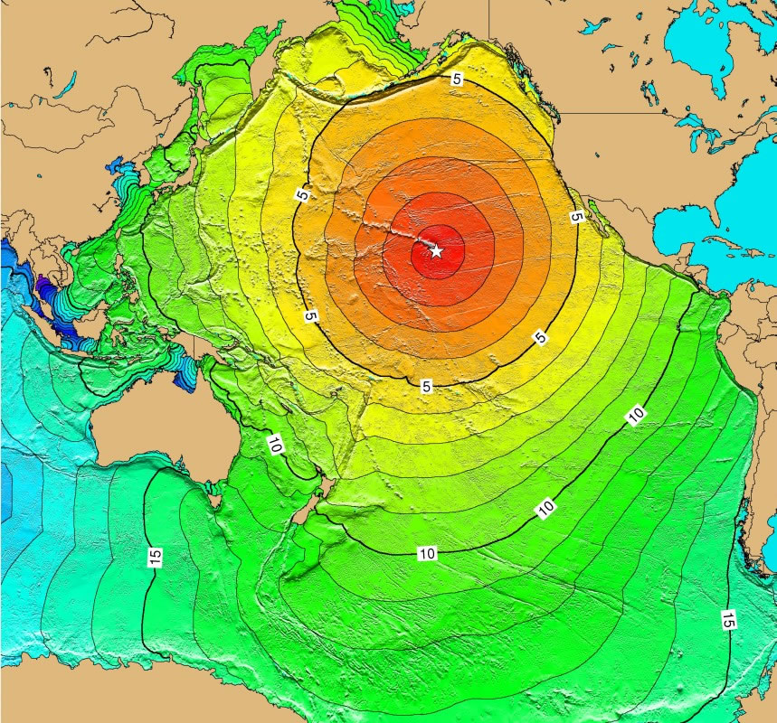 Cruise To Hawaii From California: Pacific Ocean Tsunami Threat From Subduction Zone Earthquakes