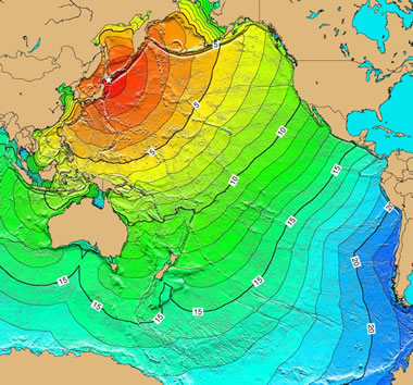 Pacific Ocean tsunami from Hokkaido, Japan earthqake