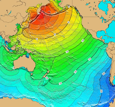 Pacific Ocean tsunami from Kamchatka, Russia earthqake
