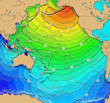 Pacific Ocean tsunami from Prince William Sound, Alaska earthqake