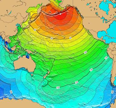 Pacific Ocean tsunami from Unimak Island, Alaska earthqake