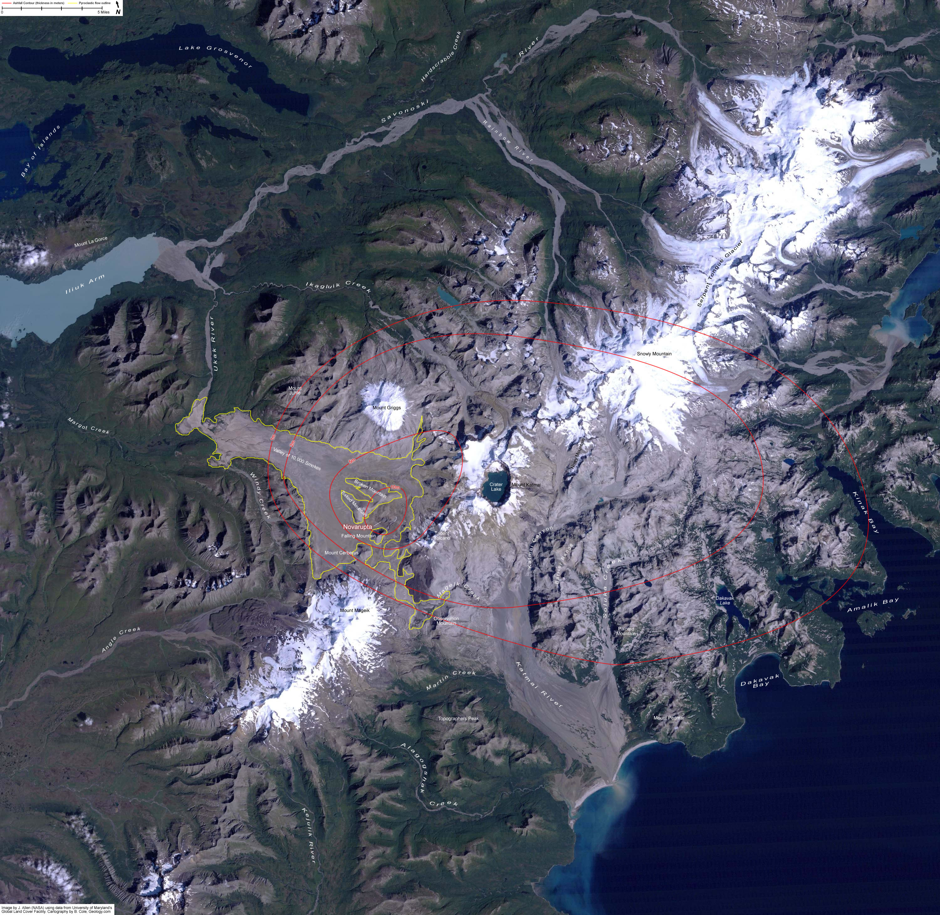 Volcanoes And Volcanic Eruptions Facts And Information - Volcanoes in usa map