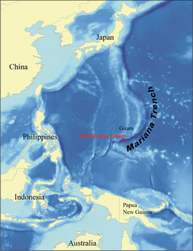 Deepest part of the ocean deepest ocean trench map of the challenger deep gumiabroncs Image collections