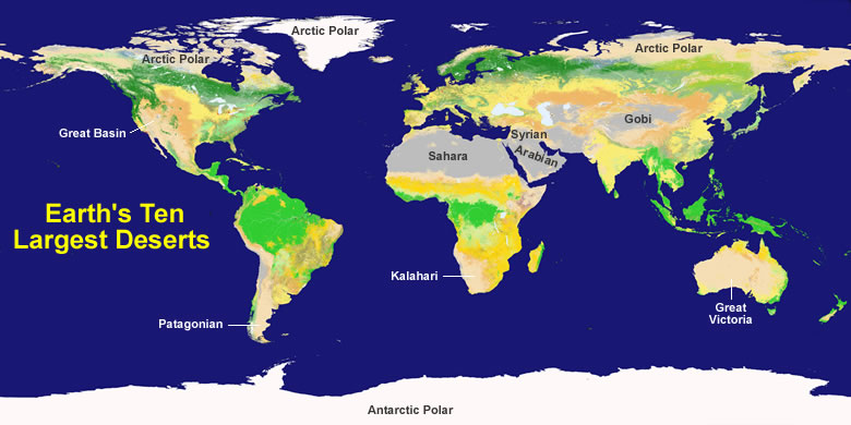 Largest desert in the world desert map world desert map publicscrutiny Images