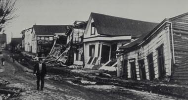 largest earthquake - damage at Valdivia