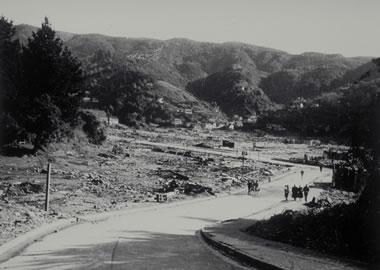 largest earthquake - tsunami damage at Corral