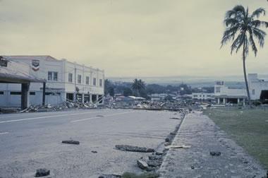 largest earthquake - tsunami damage in Hawaii