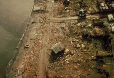 largest earthquake - tsunami damage