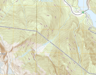 USGS topographic map of Colonial Creek Falls