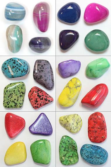 dyed tumbled stones