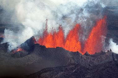 Fissure eruption in Iceland