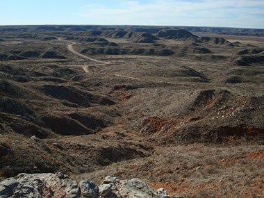 Alibates flint quarries