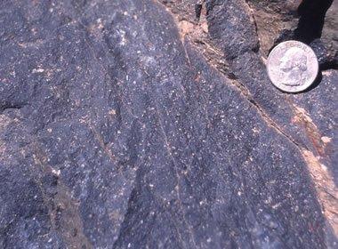 Andesite outcrop