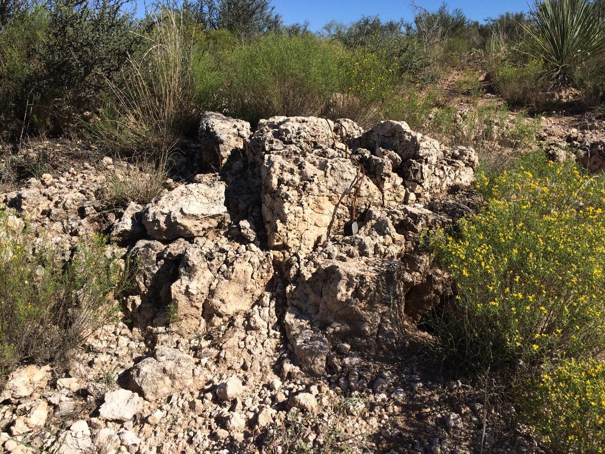 Caliche Also Known As Calcrete Hardpan And Duracrust