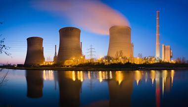 Coal-burning power plant
