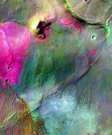 Dacite Lava Flows on Mars