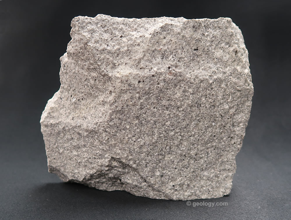 Dacite: An extrusive igneous rock of the continental crust. Dacite Rock