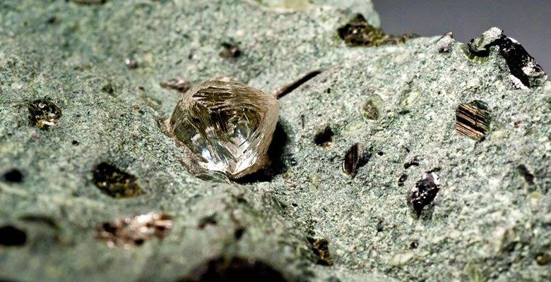kimberlite with diamond