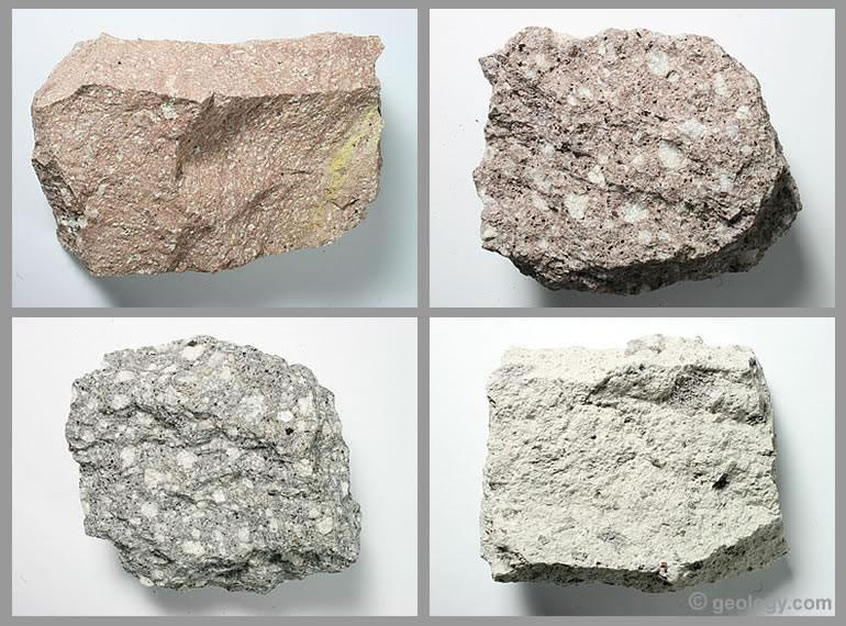 Rhyolite: An extrusive igneous rock. Photos and definition.