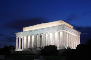Lincoln Memorial - uses of marble