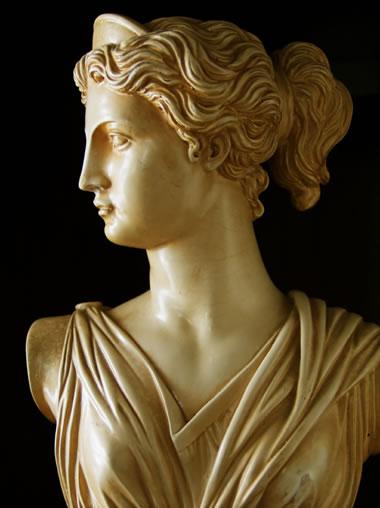 marble Artemis sculpture - uses of marble
