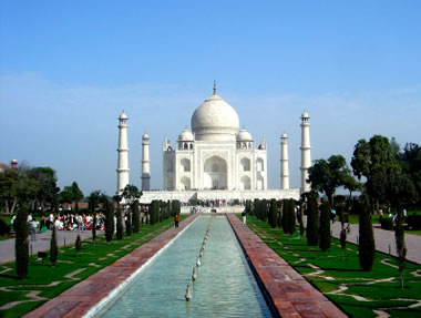 Taj Mahal made from marble