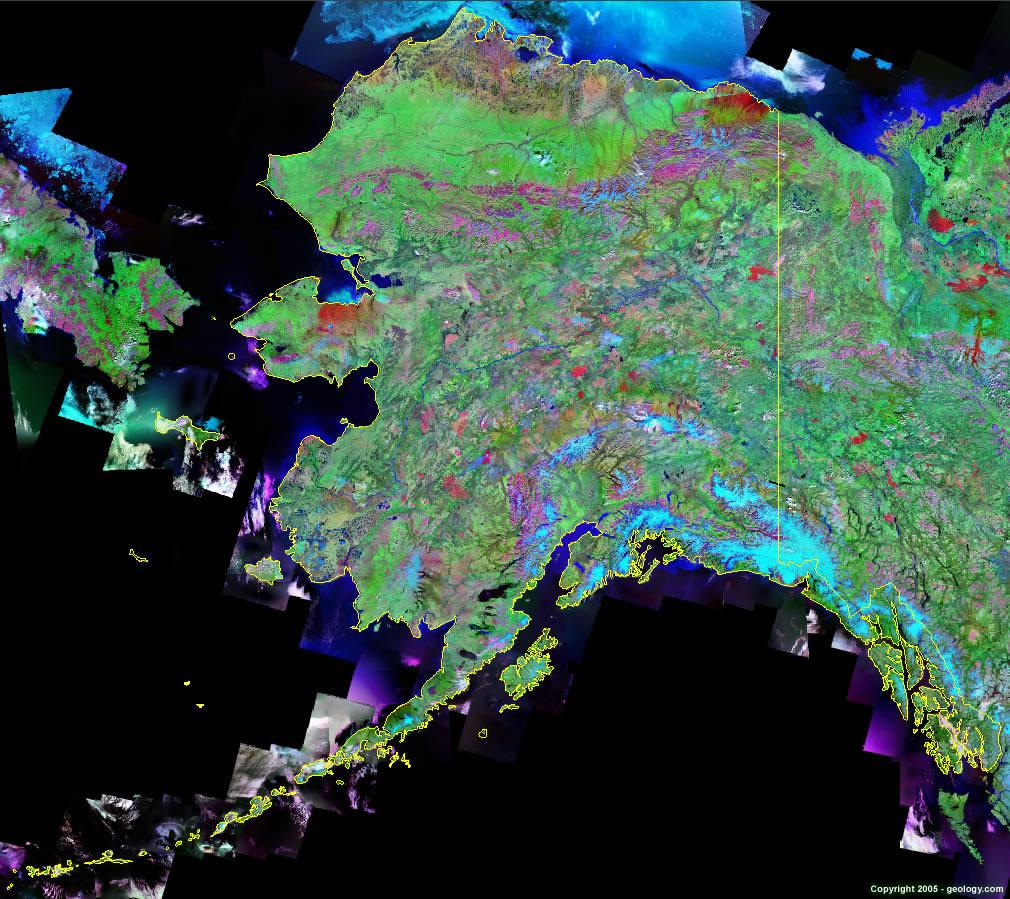 Alaska Satellite Images Landsat Color Image