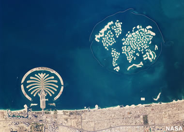 Palm Jumeirah and The World